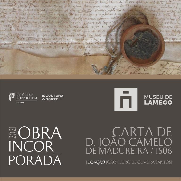 Doação de Carta de D. João Camelo de Madureira, bispo de Lamego, datada de 1506. Notícia.