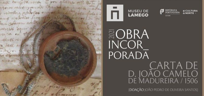 Doação de Carta de D. João Camelo de Madureira, bispo de Lamego, datada de 1506. Banner.